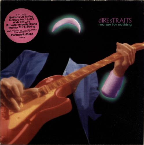 dire straits money for nothing - hype sticker - ex
