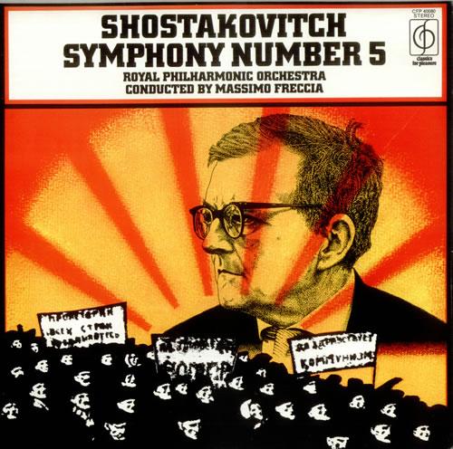 Dmitri Shostakovich Symphony No 5 Uk Vinyl Lp Record