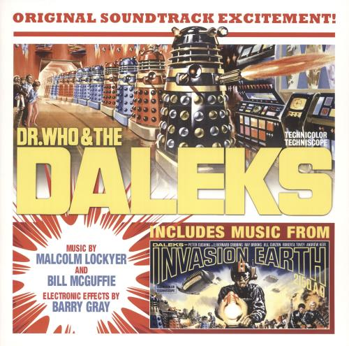 DOCTOR WHO - DR. Who & The Daleks/ 1966 Daleks: Invasion Earth 2150 A.D. - RSD Yellow Vinyl - Maxi 33T