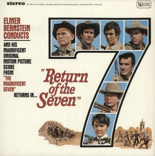 BERNSTEIN, ELMER - Return Of The Seven - 12 inch 33 rpm