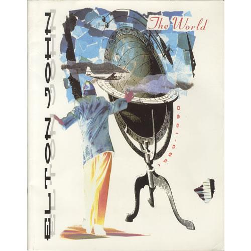 John, Elton The World 1989-1990 + Poster