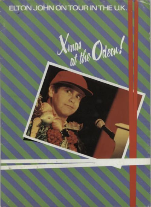 John, Elton Xmas At The Odeon + ticket stub