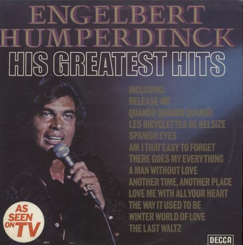 Engelbert Humperdinck Singer His Greatest Hits Uk Vinyl