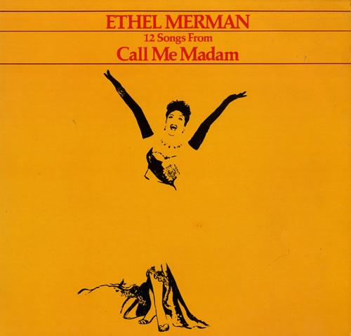 MERMAN, ETHEL - 12 Songs From Call Me Madam - 12 inch 33 rpm