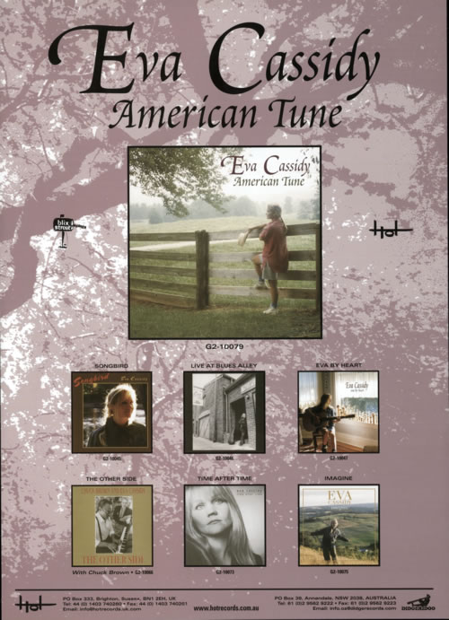 EVA CASSIDY - American Tune & Imagine - Pair of Posters - Poster / Affiche