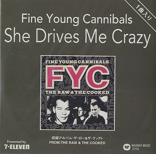 """Fine Young Cannibals She Drives Me Crazy Japanese Promo 3"""" Cd Single  WQSE-1006 She Drives Me Crazy Fine Young Cannibals 438809"""