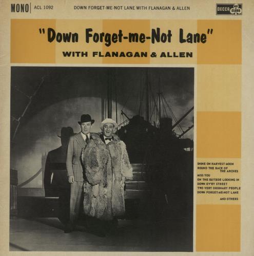 FLANAGAN & ALLEN - Down Forget-Me-Not Lane - Maxi 33T
