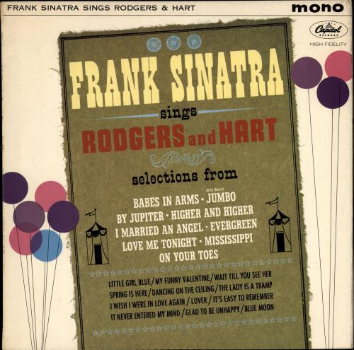 SINATRA, FRANK - Sings Rodgers And Hart - 12 inch 33 rpm