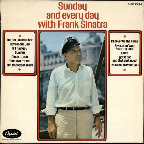 SINATRA, FRANK - Sunday And Every Day - 12 inch 33 rpm