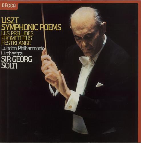 Franz Liszt Symphonic Poems Uk Vinyl Lp Record Sxl6863
