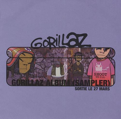 Gorillaz Gorillaz Album Sampler French Promo Cd Album