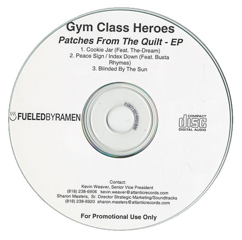Gym Class Heroes Patches From The Quilt Ep Usa Promo Cd Recordable