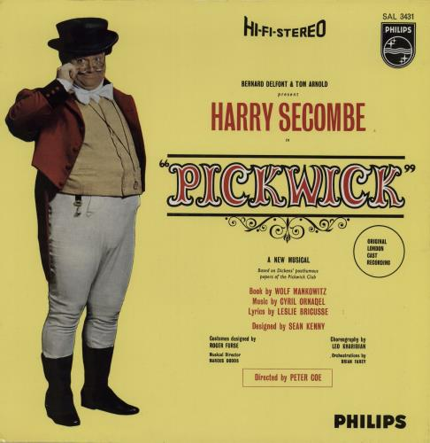 HARRY SECOMBE - Pickwick + Autographed Programme - 12 inch 33 rpm