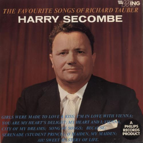 HARRY SECOMBE - Sings The Favourite Songs Of Richard Tauber - Maxi 33T