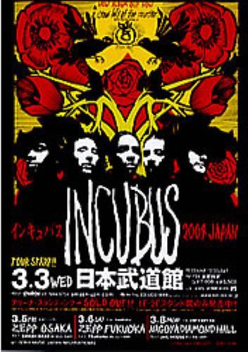 INCUBUS - Japan Tour 2004 - Poster / Affiche
