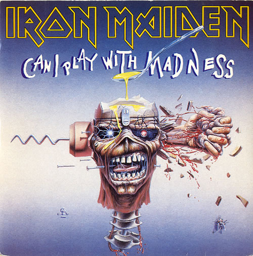 iron maiden can i play with madness + sleeve