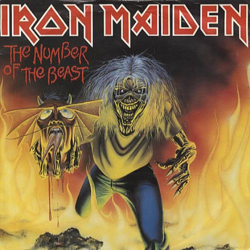 iron maiden the number of the beast - red + p/s - ex