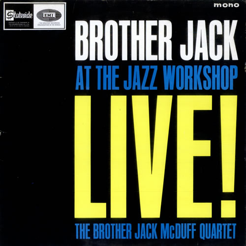 Jack Mcduff Brother Jack At The Jazz Workshop Uk Vinyl Lp