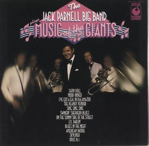 PARNELL, JACK - Plays Music Of The Giants - 12 inch 33 rpm