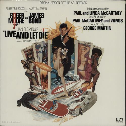 JAMES BOND - Live And Let Die - 12 inch 33 rpm