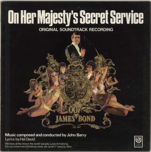 JAMES BOND - On Her Majesty's Secret Service - VG - Maxi 33T