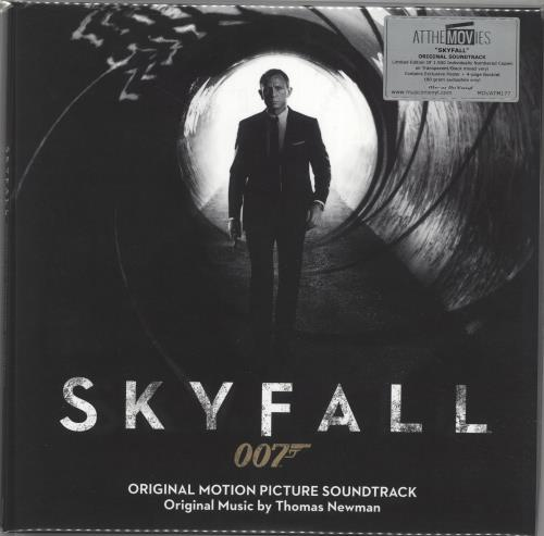 JAMES BOND - Skyfall - 180gm Transparent & Black Mixed Vinyl - Maxi 33T