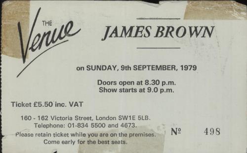 BROWN, JAMES - The Venue 1979 - Autres