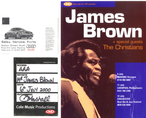 BROWN, JAMES - Tour Pass, Ticket & Laminated Flyer - Others