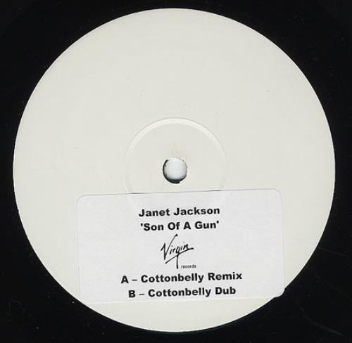 Janet Jackson Son Of A Gun White Label Uk Promo 12