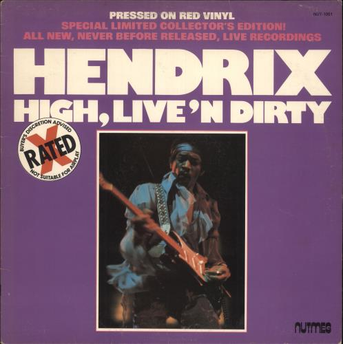 Hendrix, Jimi High, Live 'n Dirty - Red Vinyl