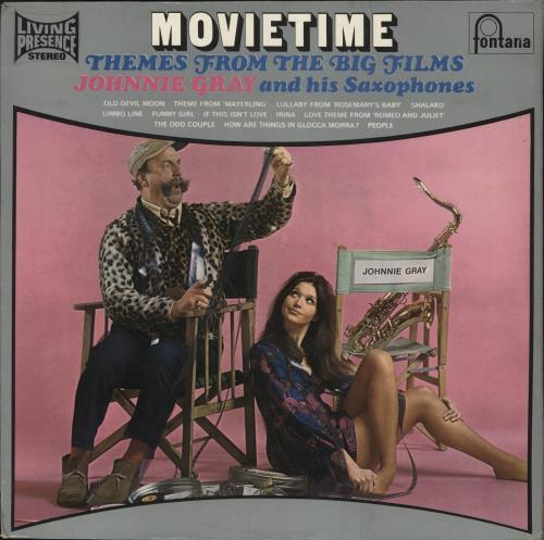 GRAY, JOHNNIE - Movietime - Themes From The Big Films - 12 inch 33 rpm