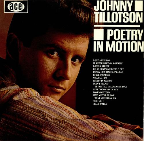 Johnny Tillotson Poetry In Motion Uk Vinyl Lp Record Ch74
