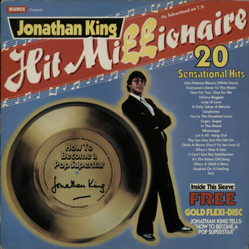 JONATHAN KING - Hit Millionaire - 12 inch 33 rpm