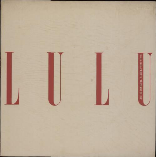 LULU - K-Alfa J-Alfa Presents ''An Evening Of Lulu'' - Maxi 33T