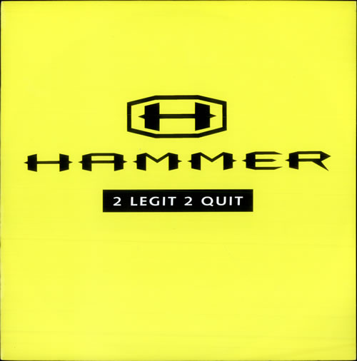 MC HAMMER - 2 Legit 2 Quit - 12 inch 33 rpm