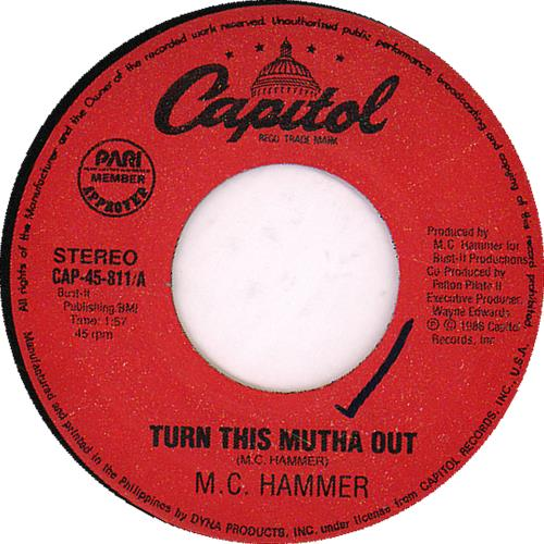 MC HAMMER - Turn This Mutha Out - 7inch x 1
