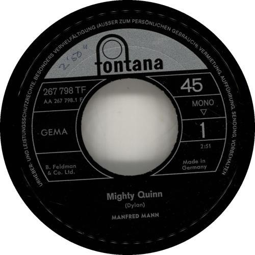 MANN, MANFRED - Mighty Quinn - 7inch x 1
