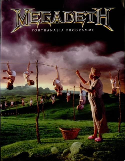 Megadeth Youthanasia Uk Tour Programme Tour Program