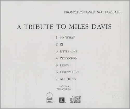 DAVIS, MILES - A Tribute To Miles Davis - CD