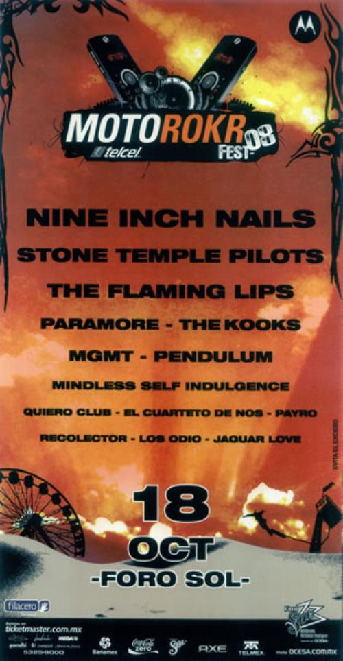 Motorokr fest \'08 by Nine Inch Nails, Poster / Display with eilcom ...