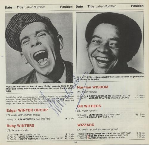 WISDOM, NORMAN - Page From The Guinness Book Of British Hit Singles - Others