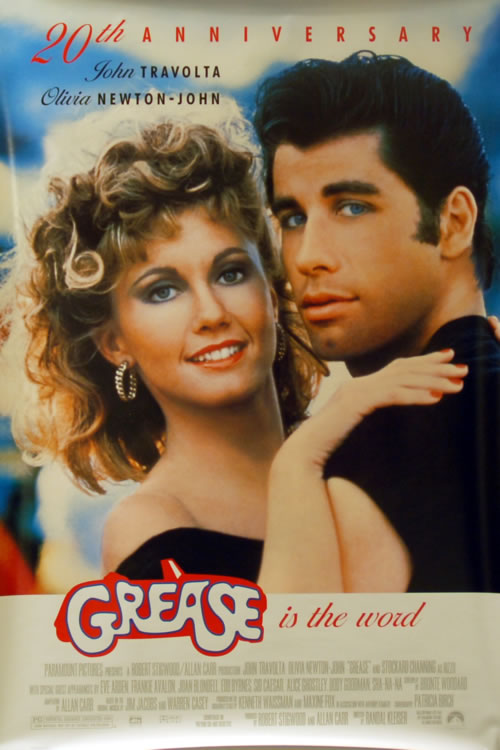NEWTON JOHN, OLIVIA - Grease - The 20th Anniversary - Poster / Display