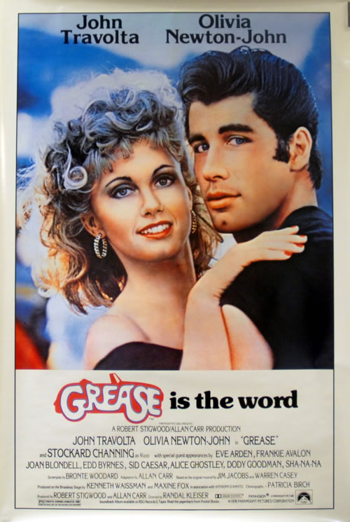 NEWTON JOHN, OLIVIA - Grease Is The Word - Poster / Display