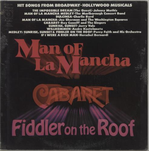 Original Cast Recording Man Of La Mancha/ Fiddler On The Roof/ Cabaret -  Sealed
