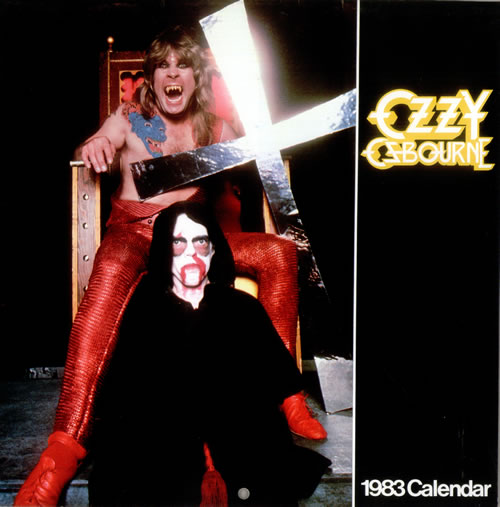 Ozzy Osbourne Ozzy Ozbourne - 1983 Calendar USA Calendar ...