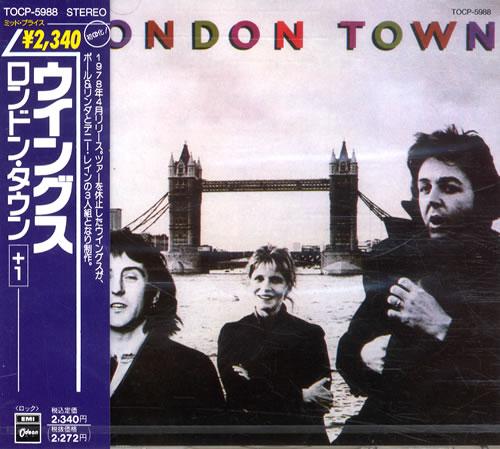 Paul Mccartney And Wings London Town Japan Cd Album TOCP-5988 London