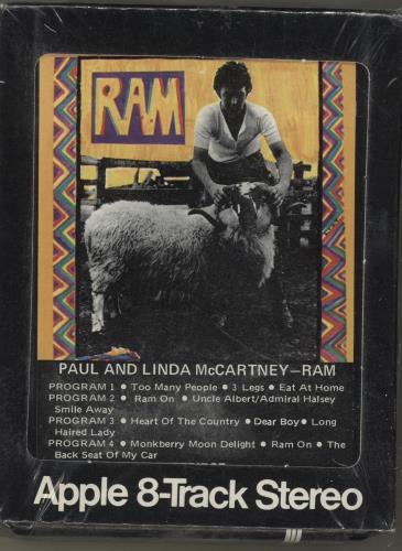 Paul Mccartney And Wings Ram - Sealed USA 8-Track Cartridge