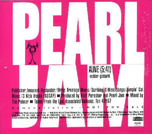 Pearl Jam Alive USA Promo 5