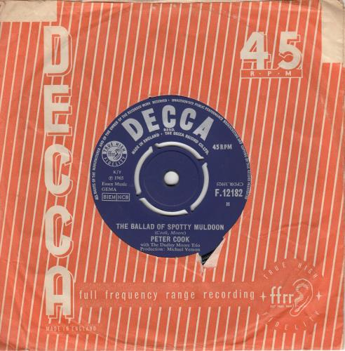COOK, PETER - The Ballad Of Spotty Muldoon - 45T x 1