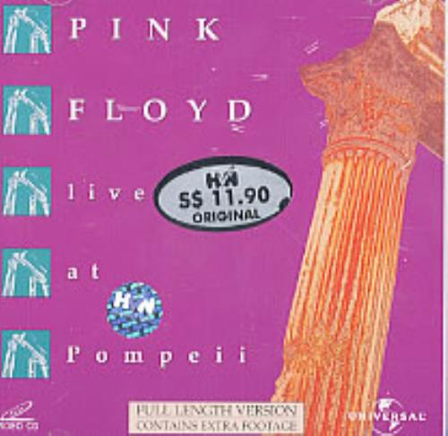 Pink Floyd Live At Pompeii Malaysia Video Cd 5307402100 Live